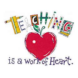 Teaching Is A Work Of Heart Cotton T-Shirt
