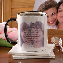 Photo Sentiments Personalized Coffee Mug for Mom