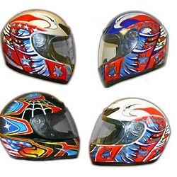 Full-Face Motocross and ATV Helmet