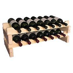 Wooden 14 Bottle Scalloped Kitchen Storage Wine Rack