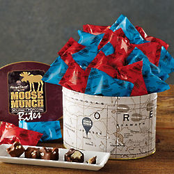 Chocolate Moose Munch Popcorn Bites Gift Tin