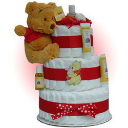 Winnie the Pooh 3-Tier Diaper Cake