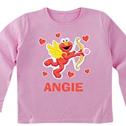 Cupid Elmo Personalized Long Sleeve T-Shirt