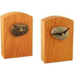 Sea Stone and Cherry Wood Clock