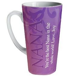 Personalized Purple Latte Mug