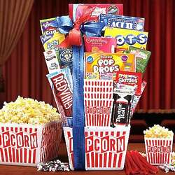 Movie Lovers Popcorn Gift Basket