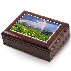 Spring Rainbow Musical Jewelry Box