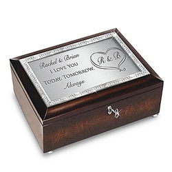 Personalized Silver-Plated Bridal Music Box