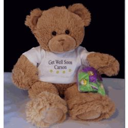 "16"" Smiley the Get Well Soon Bear"