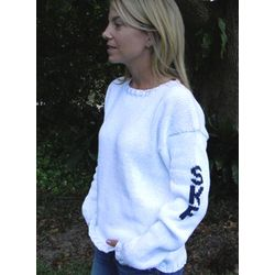 Womens Initial Sleeve Sweater