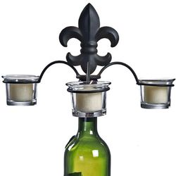French Fleur De Lis Wine Bottle Candelabra