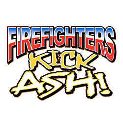 Firefighters Kick Ash Cotton T-Shirt