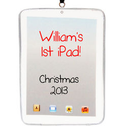 Personalized iPad Christmas Tree Ornament