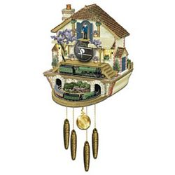 The Flying Scotsman Steam Engine Train Cuckoo Clock