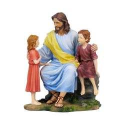 Christ With Children Figurine