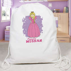 Personalized Princess Draw String Sports Bag