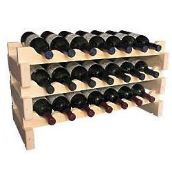 Wooden 21 Bottle Scalloped Kitchen Storage Wine Rack