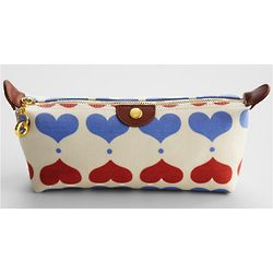 Organic Compact Cosmetic Bag in Lovehearts