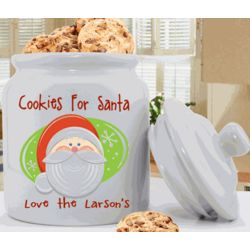Santa Personalized Cookie Jar