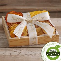Organic Dried Fruit Tray with Personalized Ribbon