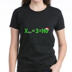 Christmas Equation Women's Dark T-Shirt