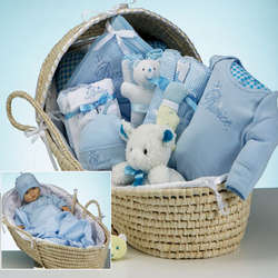Baby Deluxe Moses Prince Gift Basket