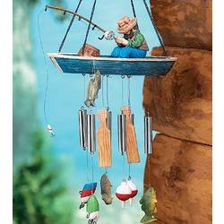 Resin Fisherman Wind Chimes