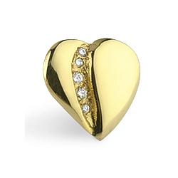 Loving Heart Five Diamond Pin