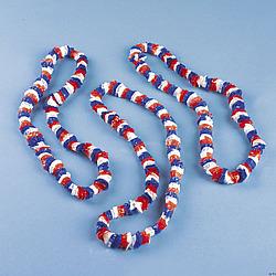Patriotic Tri-Color Poly Leis