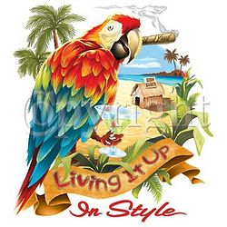 Living It Up Parrot T-Shirt