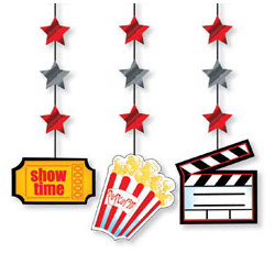 Small Movie Icon Hanging Cutouts