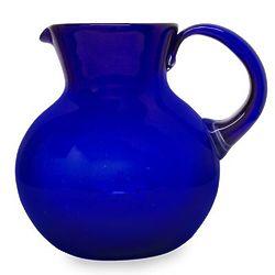 Cobalt Light Glass Pitcher