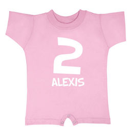 Personalized Number T-Romper