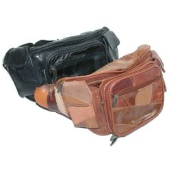Large Patch Leather Waist Pack