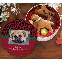 Dog-Gone Good Personalized Photo Treat Tin