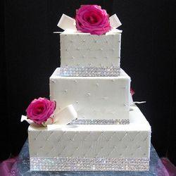 4 Row Crystal Rhinestone Wedding Banding Ribbon - 5 Yards