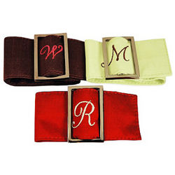 Silk Napkin Ring Belt Holders