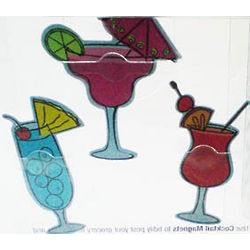 Tropical Cocktail Magnet Set