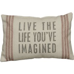 Live the Life Vintage Sack Pillow