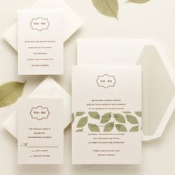 Lavish Leaves Wedding Invitation