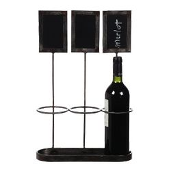 Now Being Served Wine Rack with Chalkboards