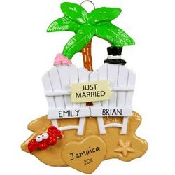 Just Married Honeymoon Ornament