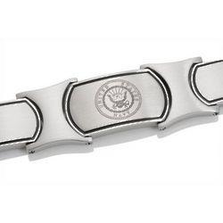Men's Embossed and Stainless Steel US Navy Bracelet