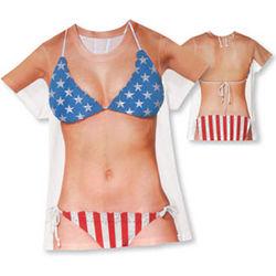 Beauty Queen USA Bikini T-Shirt