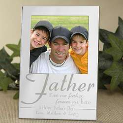 Personalized For My Father Silver Picture Frame