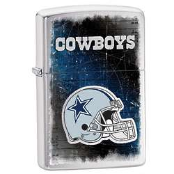 Personalized Dallas Cowboys Brushed Chrome Zippo Lighter