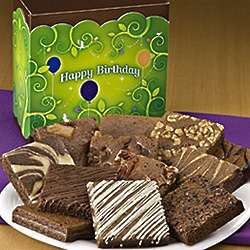 Happy Birthday Dozen Brownies