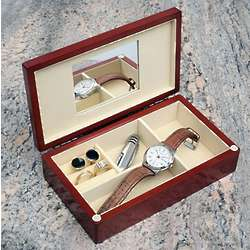 Monogrammed Wood Men's Accessories Box