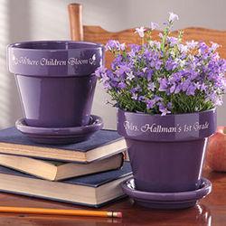 Personalized Flower Pot for Teacher