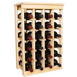 Wooden 24 Bottle Kitchen Wine Rack